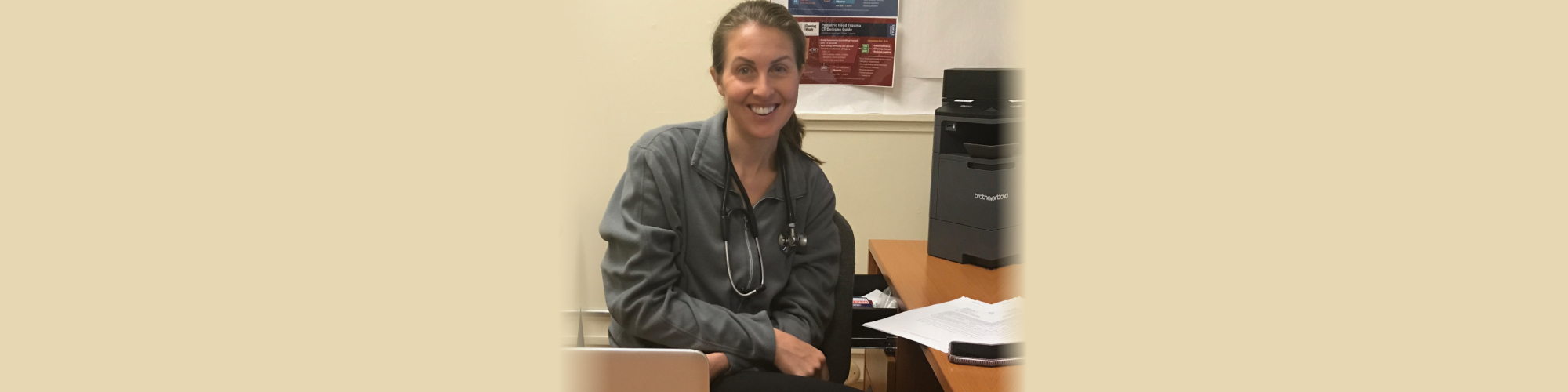 Doctor Smiling with stethoscope on her neck